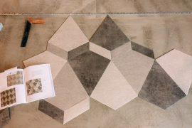 Bodenbelag in 3D-Optik